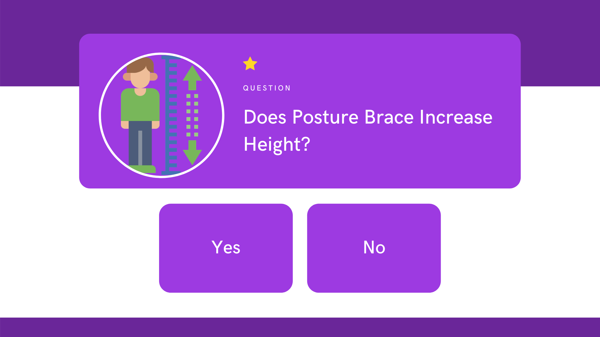 does posture brace increase height