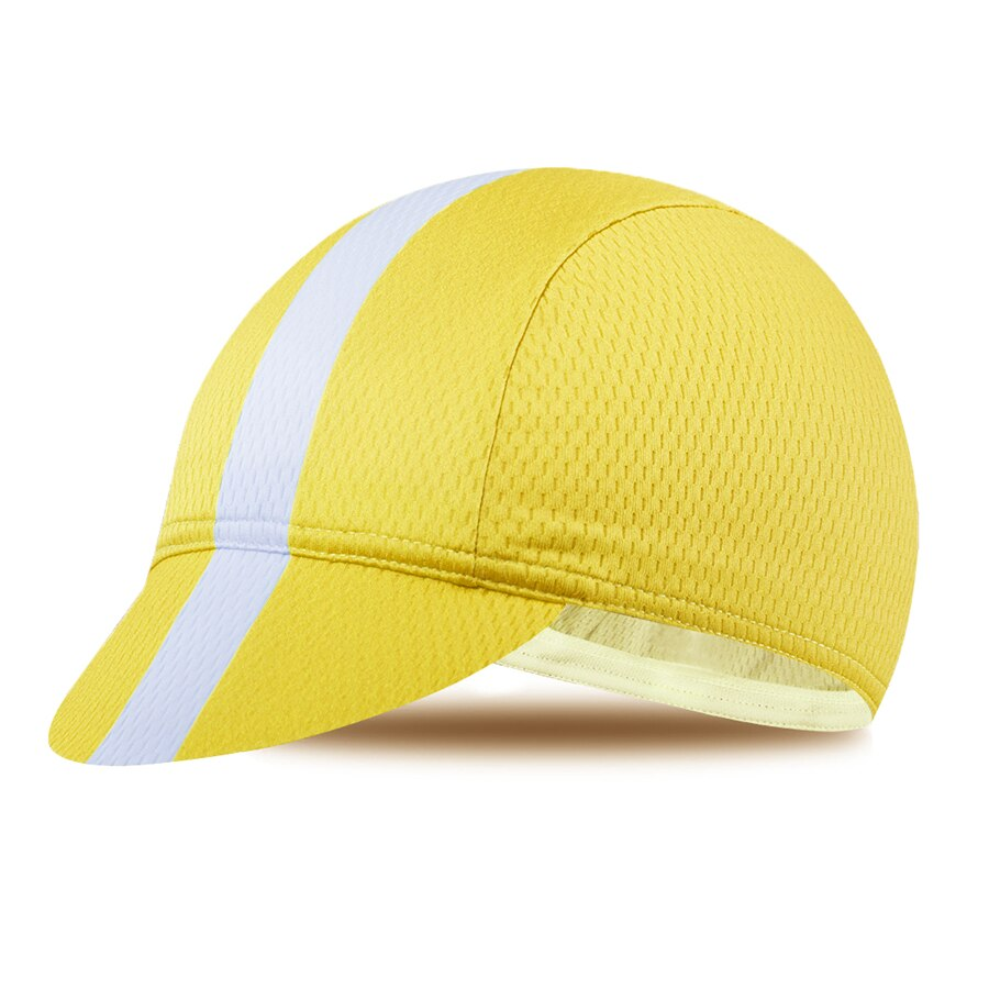 cycling cap yellow
