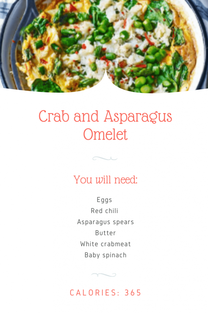 Crab and asparagus omelet