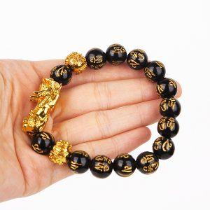 Feng Shui Obsidian Wealth Bracelet