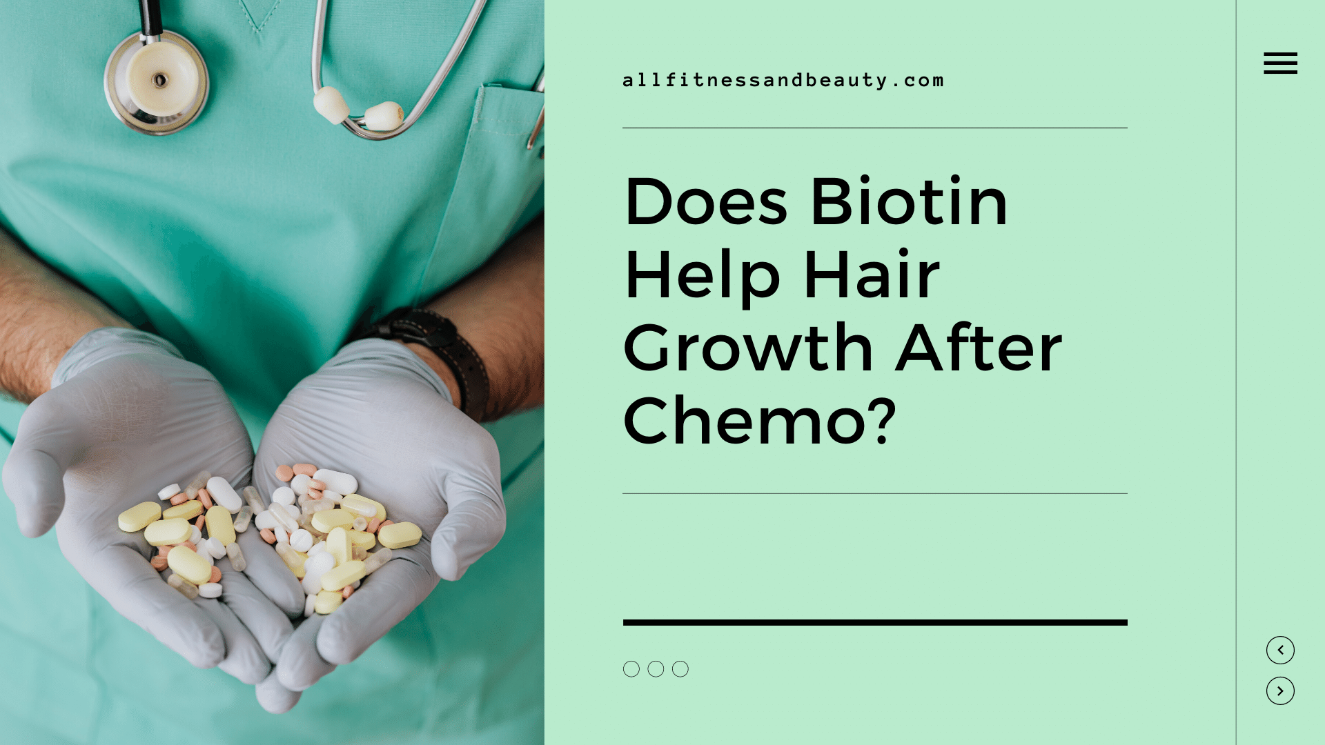 does biotin help hair growth after chemo
