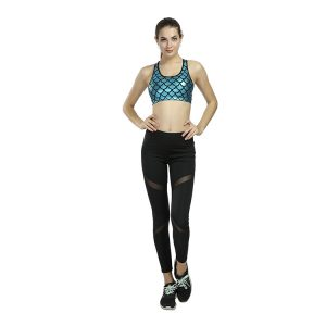 Mesh Sports Leggings with Pockets
