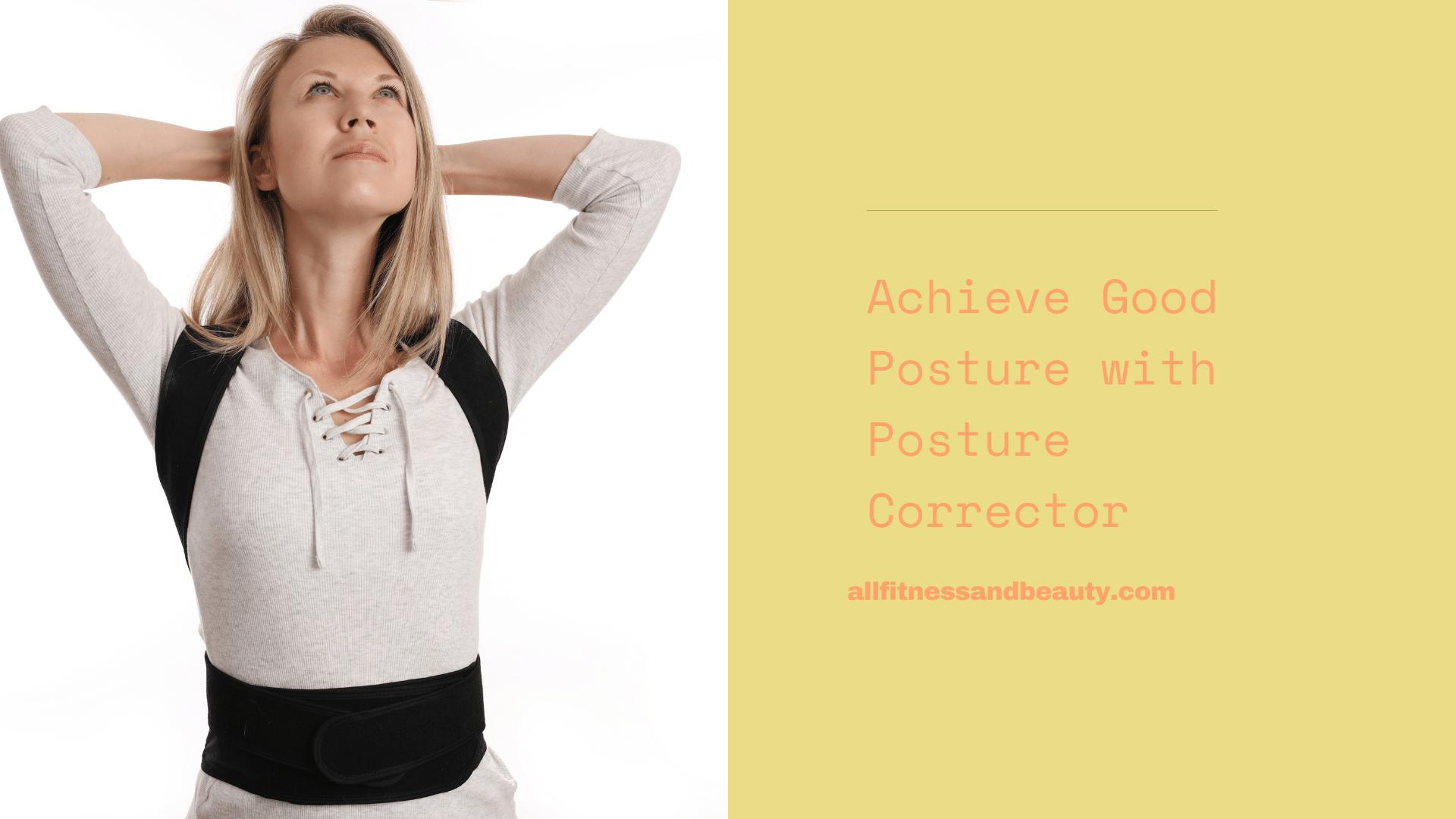 good posture with posture corrector