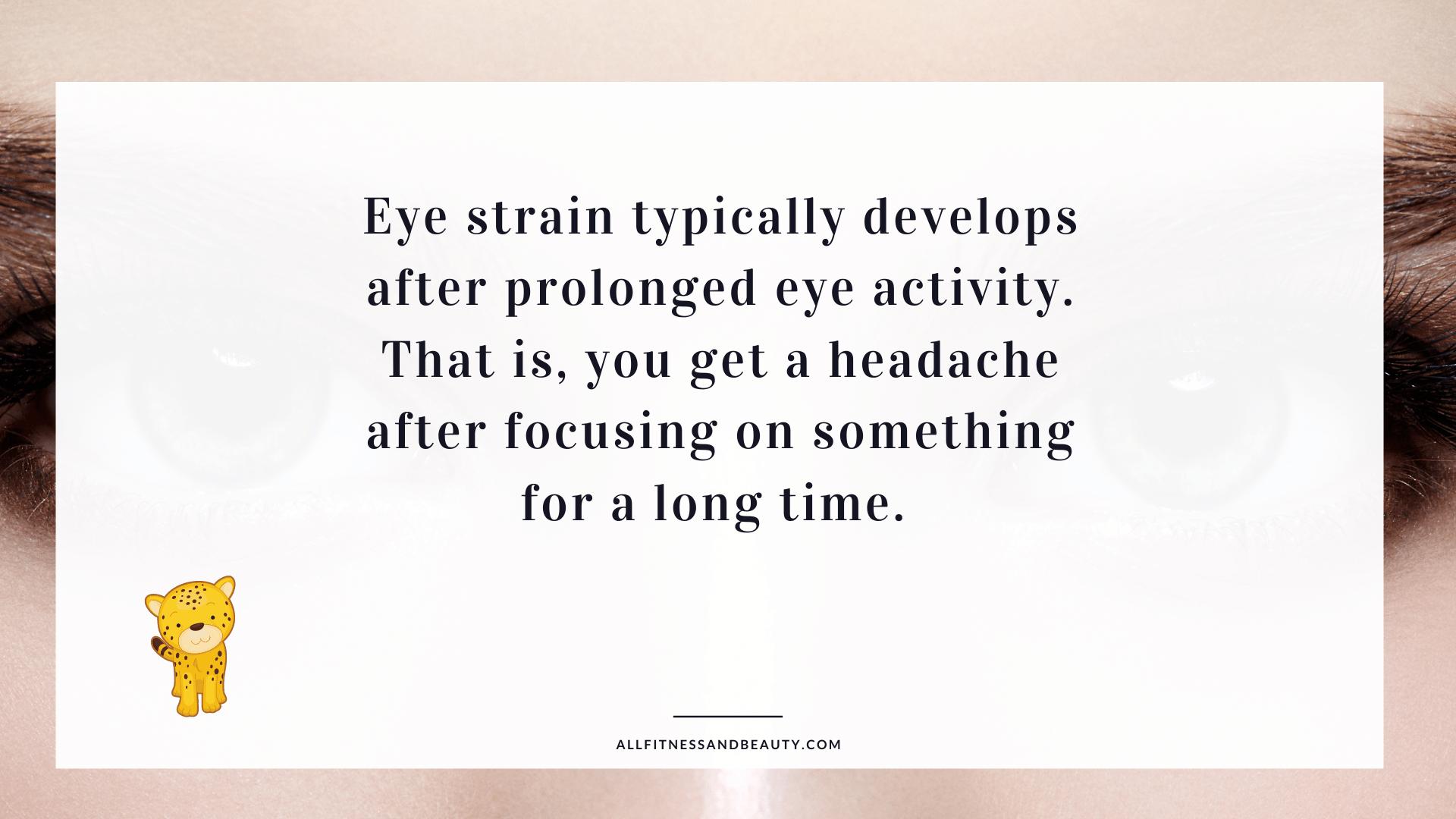 eye strain headaches - causes